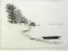 RUDOLF GEBHARDT - An der Elbe II - Radierung um 1930
