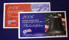 2006 UNCIRCULATED Genuine U.S. MINT SETS ISSUED BY U.S. MINT