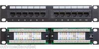 Cat5/Cat5e UTP 12 Port Network Mini Patch Panel 1u 110 w/ Cable Management