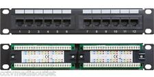Cat6 UTP 12 Port Network Mini Patch Panel w/ Labeling, 1u 110 & Cable Management