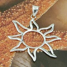 SUN PENDANT BEAUTY STERLING SILVER 925/1000 NO STONES SOLID NEW JEWELERY