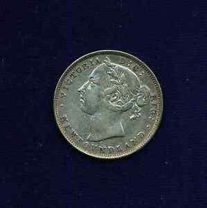 CANADA  NEWFOUNDLAND  QUEEN VICTORIA  1890  20 CENTS SILVER COIN VF/XF