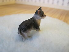 Dollhouse Miniature ~ Black and White Cat ~ Made of Resin ~ House Cat ~ Pet