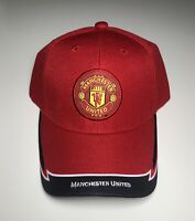 """Brand New"" OFFICIAL Manchester United FC TEAM LOGO Red CAP HAT"