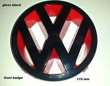VW Golf MK 4/LUPO/POLO 6n2/PASSAT B5/T4/gloss Nero/Rosso FRONT BADGE