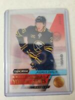 RASMUS DAHLIN 2020/21 UPPER DECK SYNERGY EXCEPTIONAL YOUNG STARS 186/449 SABRES