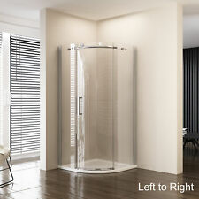 900x900x1950 Frameless Curved Round Sliding Shower Screen Enclosure L to R