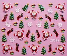 Santa Navidad calcetines Nail Art Sticker Calcomanía decoración Manicura