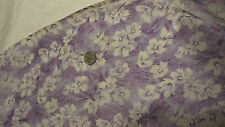 Vintage Sheer Cotton Fabric SHADES OF PURPLE & WHITE FLORAL 1/2 Yd/38""