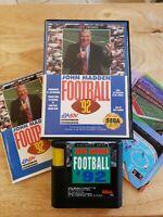 Sega Genesis - John Madden Football '92 (Complete) Game, Box & Manuals - CIB NFL
