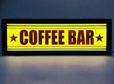COFFEE BAR - Ash Wood USB Powered LED Light Sign - 44.5cm (I)