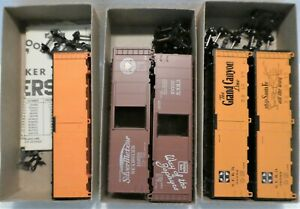 5 X ATHEARN FREIGHT CAR KITS, SOME BITS MAY BE MISSING, SEEE PICTURES