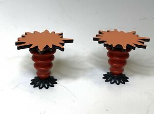Dollhouse Miniature 1:12 End Table Set Of 2, Flame Shaped, VINTAGE AG Minis