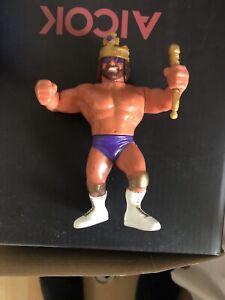 WWF WWE Hasbro RANDY SAVAGE MACHO KING WITH SCEPTRE + CROWN Figure Series 2 1991