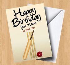 Personalised Cricket (Any Name/Age) Birthday Card