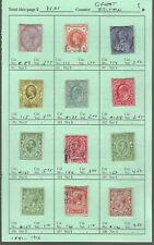 Great Britain Classics.#89/161.M & U.1881/1912.12 Diff.Scv $35.05