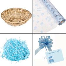 Make Your Own Boy Baby Shower Gift Basket Hamper Kit Basket Fill Cello Bow Card