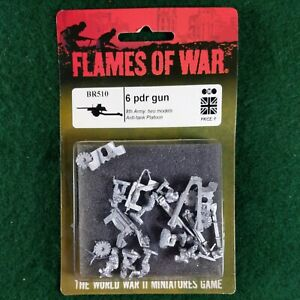 Flames of War: 6 pdr Anti-Tank Platoon BR510 - 8th Army - metal