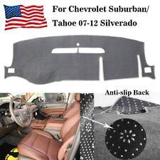 For Chevrolet Suburban/Tahoe 07-12 Silverado LTZ 07-13 Gray Dashboard Cover Mat