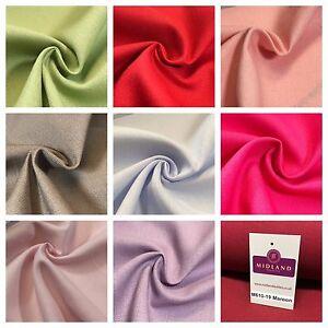 "100% Cotton Plain Canvas Crafting Medium Weight Fabric 44"" Wide M610 Mtex"
