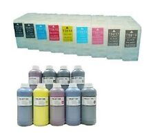 9 Cartridges for Epson Stylus per 3800 3880 250ml Refill INK System refillable