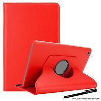 Housse Etui Rouge pour Huawei MediaPad M5 Lite 10.1 Support Rotatif 360°