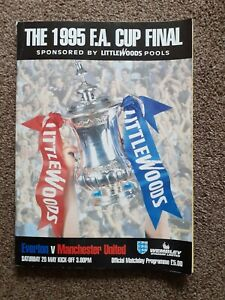 Everton V Manchester United FA Cup Final 1995 Programme