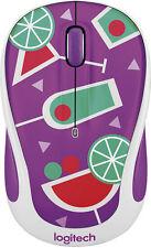 Logitech Wireless Mouse M325 - Purple Cocktail 910-004680 Contoured Optical