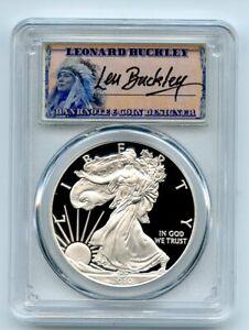 2010 W $1 Proof American Silver Eagle 1oz PCGS PR70DCAM Leonard Buckley