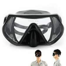 Aqua Lung Sport Silicone Scuba Snorkeling Diving Dive Mask Goggles , All Black