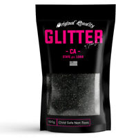 Black Premium Glitter Multi Purpose Dust Powder 100g / 3.5oz Arts & Crafts