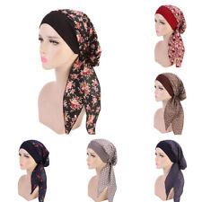 Women Chemo Hat Bandana Elastic Band Turban Head Scarves Flower Embellishment