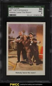 1959 Fleer The 3 Stooges Nobody Leave The Room! #87 SGC 9 MINT