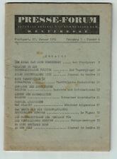 Zeitschrift - Presse-Forum Jhg. 5 Nr. 4 Stuttgart 27.01.1951 Atombombe Stalin
