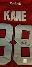 Patrick Kane Chicago Red  Black Hawks signed Reebok CCM jersey w/ Holo Sticker