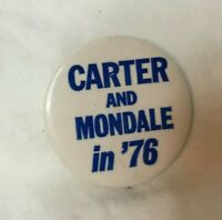 "* Presidential Political Pinback Button JIMMY CARTER 1 3/4"" CARTER & MONDALE '76"