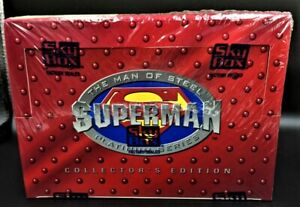 Superman The Man Of Steel Skybox 1994 DC Collector Cards Factory Seal PACKS MINT
