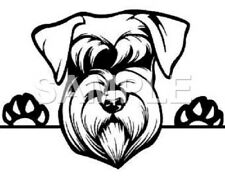 Schnauzer  Vinyl Decal Car Truck Window Sticker (choice of 1 any color)