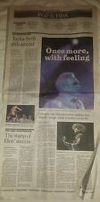 Lot of 2 taylor swift newspaper articles Los Angeles Times Calendar 8-25-15 8-26