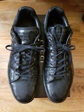 Gucci Mens Authentic Black 227988 Monogram GG Sneakers Shoes Size 14.5 US
