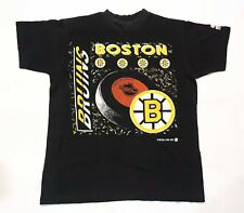 Vintage Starter 1991 NHL Boston Bruins Hockey T-Shirt Black P/S Size Tee Canada