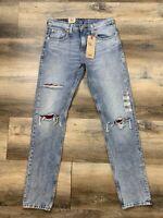 Levis 512 Slim Taper 29x32 Stretch Mens Jeans Performance Distressed Ripped