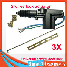 3 Sets Car Central Door Lock Actuator Auto locking Motor Gun Type 2 wire AU