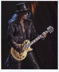 Slash Guns N Roses Guitarist Signed Photo Genuine In Person + Hologram COA