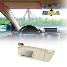 Left/Driver Side Sun Visor Beige for 2007~2011 2010 Toyota Camry Without Sunroof