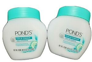 2x Ponds Cold Cream Makeup Remover Refreshing Cleanser Cucumber 10.1 oz
