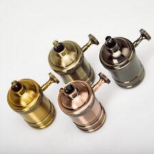 E27/E26 Copper Vintage Edison Screw Bulb Hang Lamp Holder Light Socket Fitting