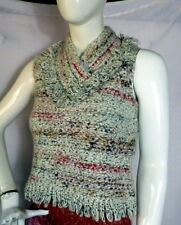 ANTHROPOLOGIE EASEL Hand Knit Sleeveless Sweater M