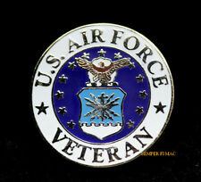 VETERAN US AIR FORCE HAT LAPEL VEST PIN UP VETERAN ANG WING RETIREMENT GIFT WOW