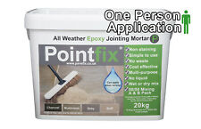 POINTFIX Charcoal 20kg | Jointing compound All Weather Epoxy Mortar Paving